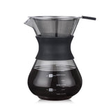 200ml/400ml Thicken Glass Coffee Pot with Handle Espresso Water Drip Coffee Maker Reusable Coffee Tea Filter Tools200ml/400ml Thicken Glass Coffee Pot with Handle Espresso Water Drip Coffee Maker Reusable Coffee Tea Filter Tools