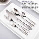 30PCS 18/10 Stainless Steel Western Dinnerware Sets Simple style Tableware Set Kitchen Accessories Fork Knife Cutlery Dining Set30PCS 18/10 Stainless Steel Western Dinnerware Sets Simple style Tableware Set Kitchen Accessories Fork Knife Cutlery Dining Set