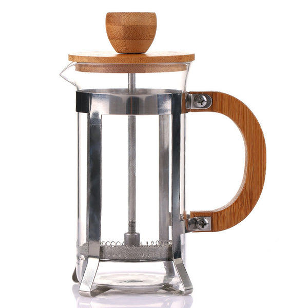 350ml coffee Pot cafetera Filter network Bamboo cover Hand punch pot espresso french press cafe Home tea appliances