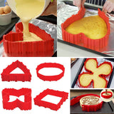 4pcs/set Magic Cake Mold Multi Style DIY Puzzle Silicone Mold Bread Cake Pan Cake Mold Silicone Form Baking Tool H3634pcs/set Magic Cake Mold Multi Style DIY Puzzle Silicone Mold Bread Cake Pan Cake Mold Silicone Form Baking Tool H363
