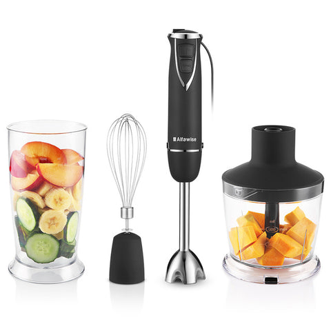 600ML Alfa wise Hand Blender 6 speeds 3 in 1 All-rounder Household chopper blender whisk 600w one touch button For Home Original600ML Alfa wise Hand Blender 6 speeds 3 in 1 All-rounder Household chopper blender whisk 600w one touch button For Home Original