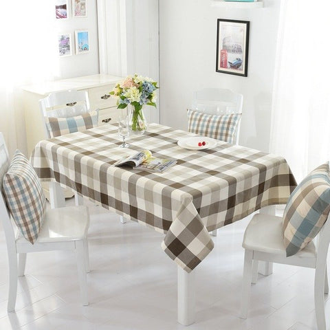 American Country Style Table Cloth Waterproof Lattice Tablecloth Cotton Fabric Kitchen Rectangular Plaid ClothAmerican Country Style Table Cloth Waterproof Lattice Tablecloth Cotton Fabric Kitchen Rectangular Plaid Cloth