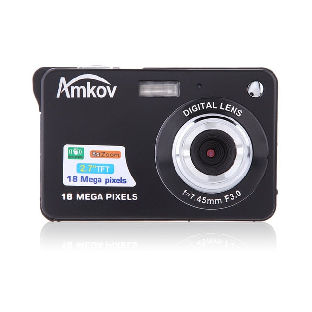 "CDC32 2.7"" TFT HD Digital Camera 18MP 8x Zoom Video Camera Smile Capture Mini Camera Anti-shake Digital Camcorder Support 32G"
