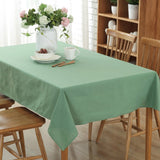 Candy Colour Linen Cotton Table Cloth Dustproof Modern Rectangle Tablecloth Dining Table Cover For Kitchen Home DecorCandy Colour Linen Cotton Table Cloth Dustproof Modern Rectangle Tablecloth Dining Table Cover For Kitchen Home Decor