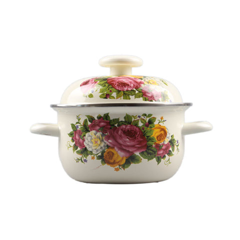 Casserole Enamel Cooking Pot 1-6 litre selection Cookware Stew /Stock Pot Beautiful Random PatternCasserole Enamel Cooking Pot 1-6 litre selection Cookware Stew /Stock Pot Beautiful Random Pattern