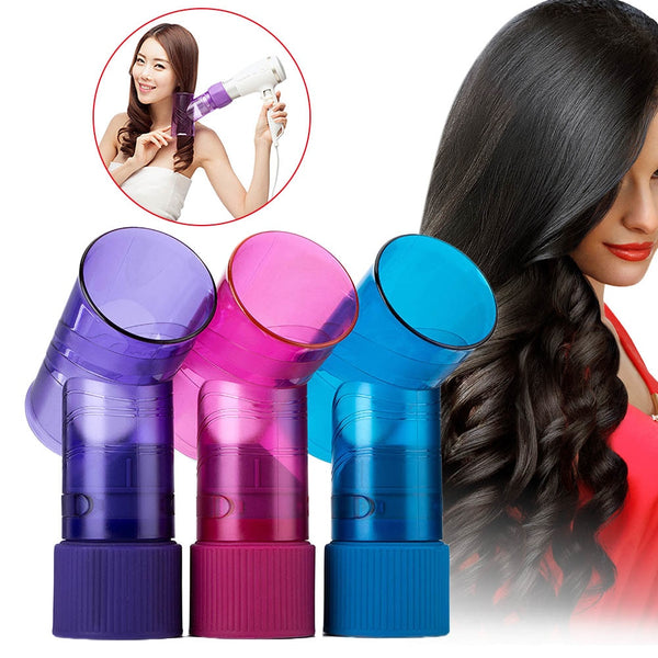 Convenient Hot Hair Dryer Diffuser Portable Hair Curler Maker Magic Wind Spin Curl Hairstyling Tool HY99 AU01