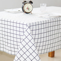 Cotton and linen Table cloth Country Style Plaid Print Rectangle Table Cover Tablecloth Home Kitchen Decoration Nordic style