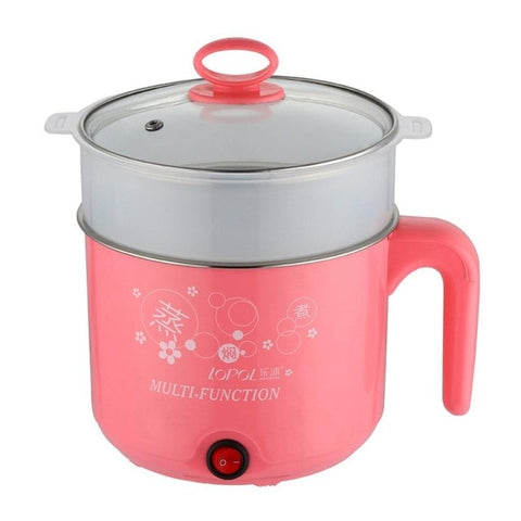 Cute 1.8L 450W Multifunction Electric Cooker Stainless Steel Steamer Hot Pot Noodles Pots Rice Cooker Steamed Eggs Pan Soup PotsCute 1.8L 450W Multifunction Electric Cooker Stainless Steel Steamer Hot Pot Noodles Pots Rice Cooker Steamed Eggs Pan Soup Pots