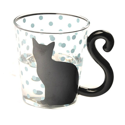Cute New Creative Cat Kitty Mug Cup Tea Milk Coffee Cups Blue Dots Espresso Sets for Birthday Gift Glass Drinkware Couples CupCute New Creative Cat Kitty Mug Cup Tea Milk Coffee Cups Blue Dots Espresso Sets for Birthday Gift Glass Drinkware Couples Cup