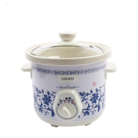 DMWD Household Electric Mini Slow Cooker 140W MINI Mechanical timer Stewing Soup Porridge Pot Ceramic food cooking machine 1.5LDMWD Household Electric Mini Slow Cooker 140W MINI Mechanical timer Stewing Soup Porridge Pot Ceramic food cooking machine 1.5L