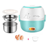 DMWD MINI Rice Cooker Thermal Heating Electric Lunch Box 2 Layers Portable Food Steamer Cooking Container Meal Lunchbox WarmerDMWD MINI Rice Cooker Thermal Heating Electric Lunch Box 2 Layers Portable Food Steamer Cooking Container Meal Lunchbox Warmer