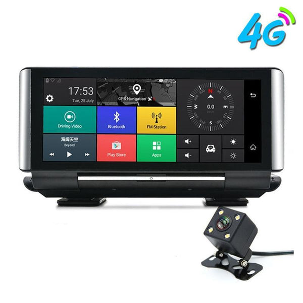 "E-ACE Car DVR GPS 4G Navigation Tracker 6.86"" Android 5.1 Car Camera WIFI 1080P ADAS Video Recorder For Car Tourism Navigators"