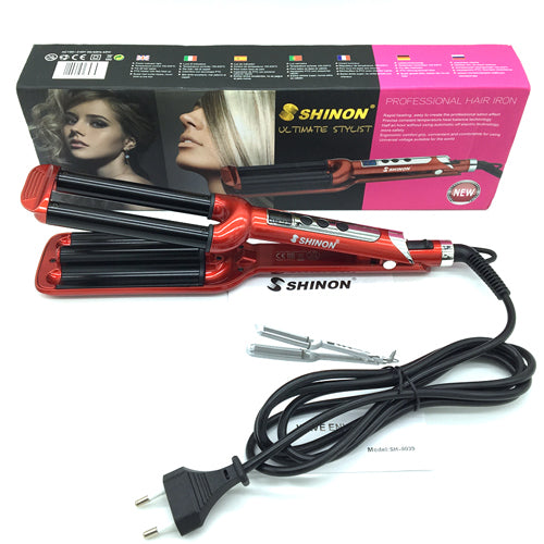 Fashion Three pipe joint Ceramic Triple Barrels Curling Iron Deep Wave Curler Hair Waver Free Shipping