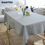 GIANTEX Pastoral Arrow Pattern Decorative Table Cloth Cotton Linen Tablecloth Dining Table Cover For Kitchen Home Decor U1099GIANTEX Pastoral Arrow Pattern Decorative Table Cloth Cotton Linen Tablecloth Dining Table Cover For Kitchen Home Decor U1099