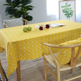 GIANTEX Yellow Chessboard Decorative Table Cloth Cotton Linen Tablecloth Dining Table Cover For Kitchen Home Decor U1100GIANTEX Yellow Chessboard Decorative Table Cloth Cotton Linen Tablecloth Dining Table Cover For Kitchen Home Decor U1100