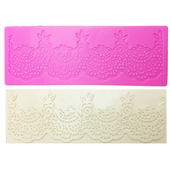 M0358 Flower lace mat DIY Silicone Mold For Cake Decorating tools baking bakeware mould silicone mat fondant cake