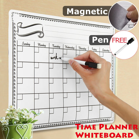 Magnet Plan Whiteboard Flexible Fridge Magnetic Refrigerator Dry Erase Board Waterproof Drawing Message Board 42X30CMMagnet Plan Whiteboard Flexible Fridge Magnetic Refrigerator Dry Erase Board Waterproof Drawing Message Board 42X30CM