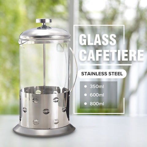 Manual Coffee Espresso Maker Pot Stainless Steel Glass Teapot Cafetiere French Coffee Tea Percolator Filter Press PlungerManual Coffee Espresso Maker Pot Stainless Steel Glass Teapot Cafetiere French Coffee Tea Percolator Filter Press Plunger