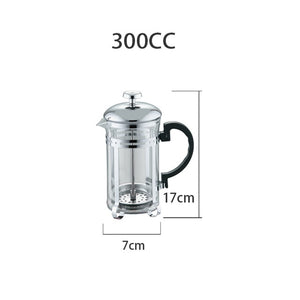 Manual french press Coffee Espresso Maker Pot Stainless Steel Glass Cafetiere French Coffee Filter Tea Kettle barista Tool