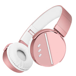 Memories Music Bluetooth headphone sport  bass 3.5 mm with microphone  for PC phone best headphone wireless pink