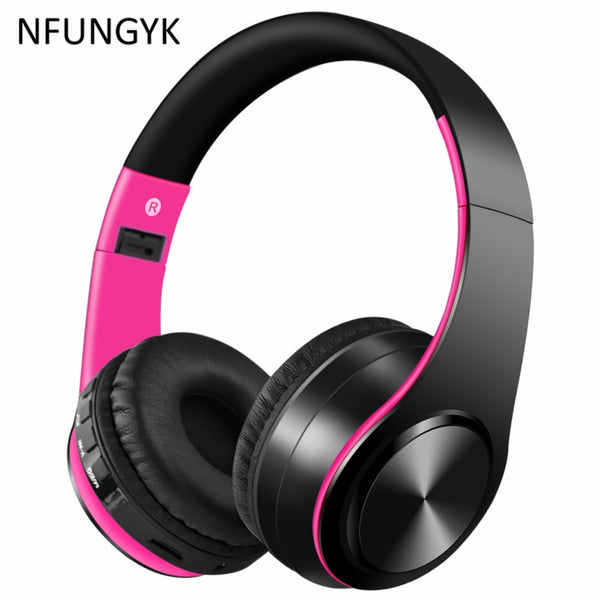 NFUNGYK Bluetooth headphones sport music earphone with mic for iphone computer support AUX TF card best headphone wireless