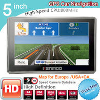 New 5 inch HD GPS Navigation 800Mhz/FM/8GB/DDR3 2018 Maps For Russia/Belarus  Europe/USA+Canada TRUCK Navi Camper Caravan