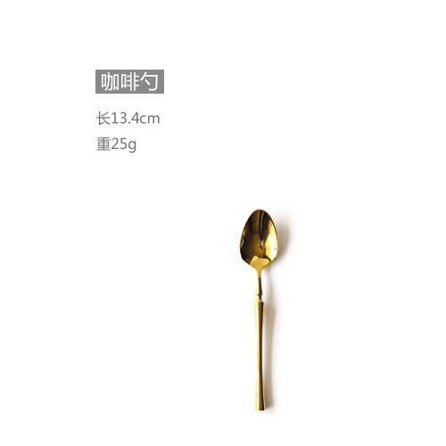 New Stainless Steel Golden Cutlery Set Mirror Polishing Dinnerware Tableware Dinner Knife Fork Foods Tools Kitchen Accessories