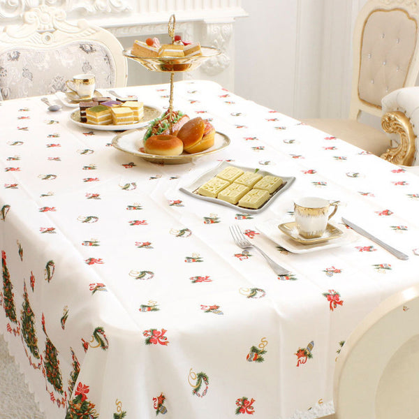 New Year Home Kitchen Dining Table Decorations Christmas Tablecloth Rectangular Linens Party Table Covers Christmas Ornaments