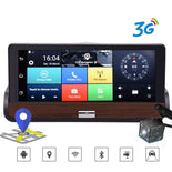 "Podofo 3G 7"" Car DVR Dual Lens Camera GPS Navigation wifi Android 5.0 Touch Screen DashCam Video Recorder With Rear view Camera"