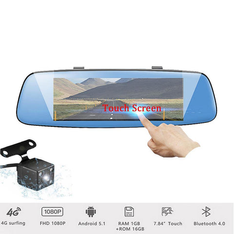 Podofo GPS Navigation 4G Android Car DVR 4G 7.84