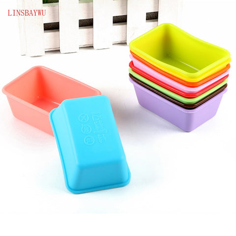 Rectangle Shaped Silicone Mold Cake Mold Loaf Toast Bread Pastry Baking Bakeware DIY Small Cake Pan Fondant Cake Mould cake toolRectangle Shaped Silicone Mold Cake Mold Loaf Toast Bread Pastry Baking Bakeware DIY Small Cake Pan Fondant Cake Mould cake tool