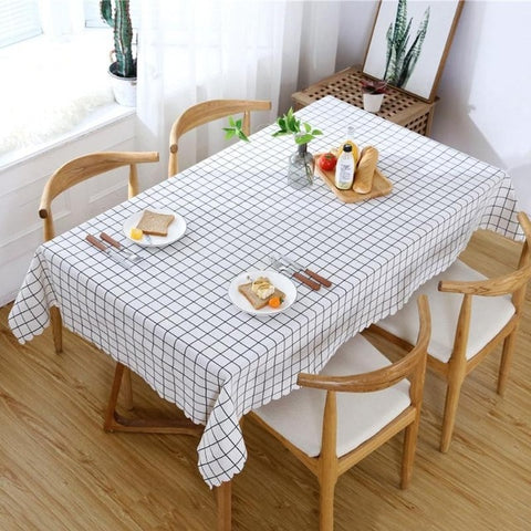 Sytlish Linen Table Cloth Country Style Plaid Print Multifunctional Rectangle Table Cover Tablecloth Home Kitchen DecorationSytlish Linen Table Cloth Country Style Plaid Print Multifunctional Rectangle Table Cover Tablecloth Home Kitchen Decoration