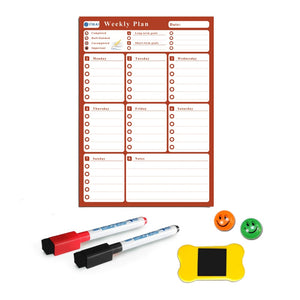 YIBAI A3 30*42cm Flexible Magnetic board Calendar,Dry Earse Magnets Waterproof Plan Message WhiteBoard For Refrigerator Memo