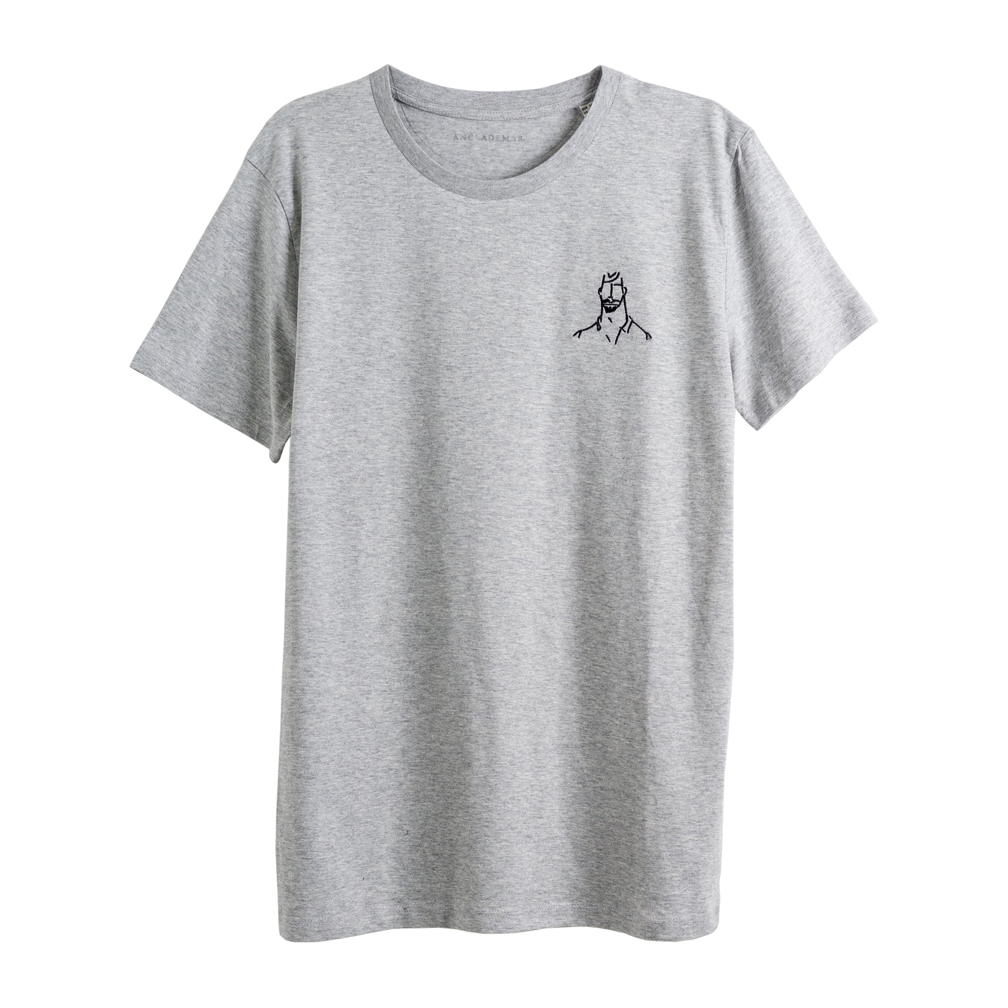 Camiseta Gris Chico Bordado