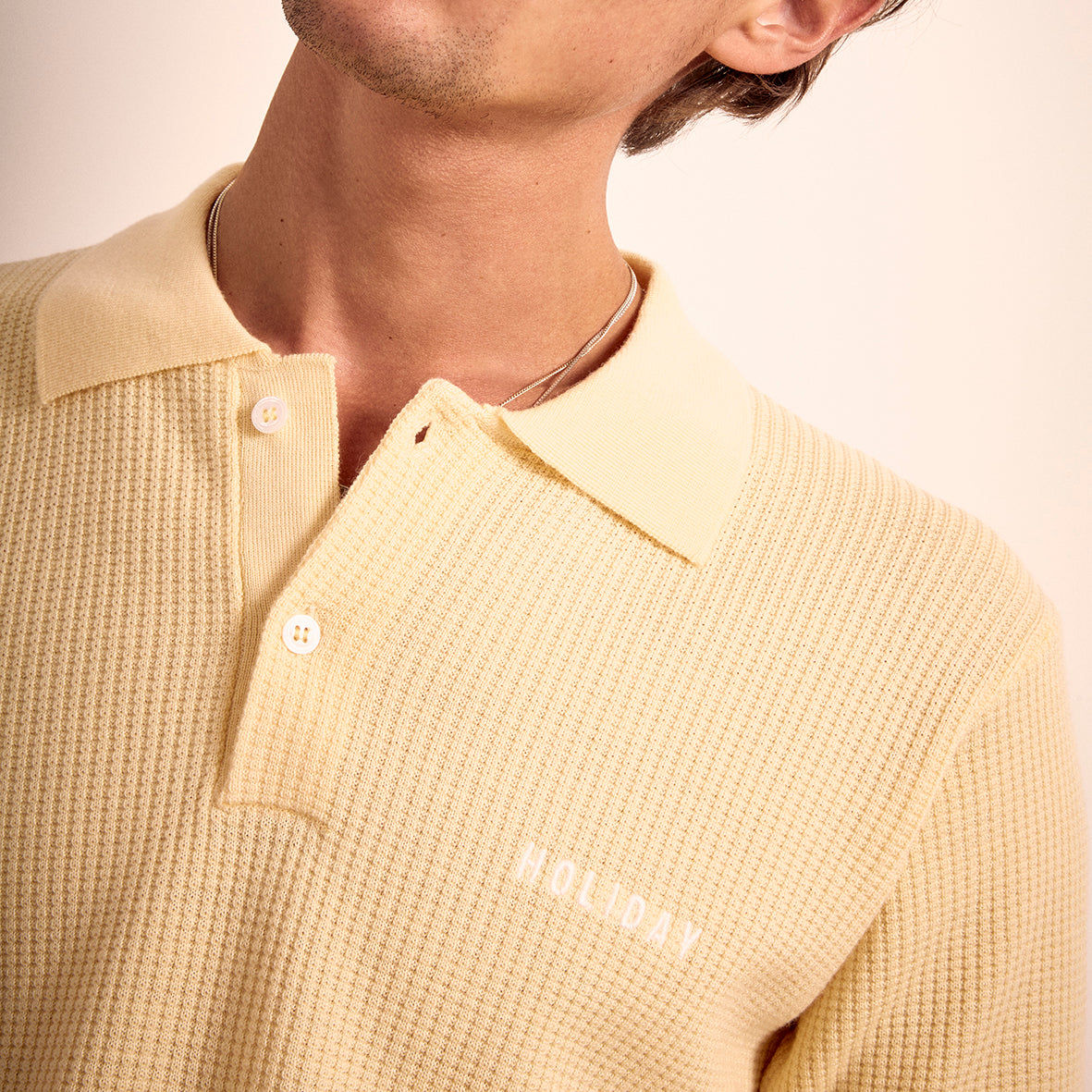 The Jagger Polo by Holiday Boileau. Yellow