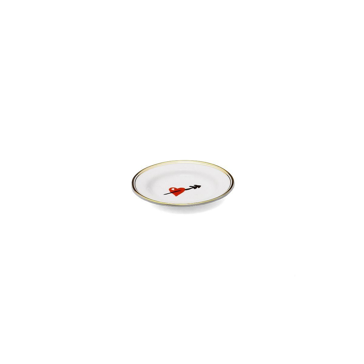 Plato Porcelana SMALL HEART. 10 cm