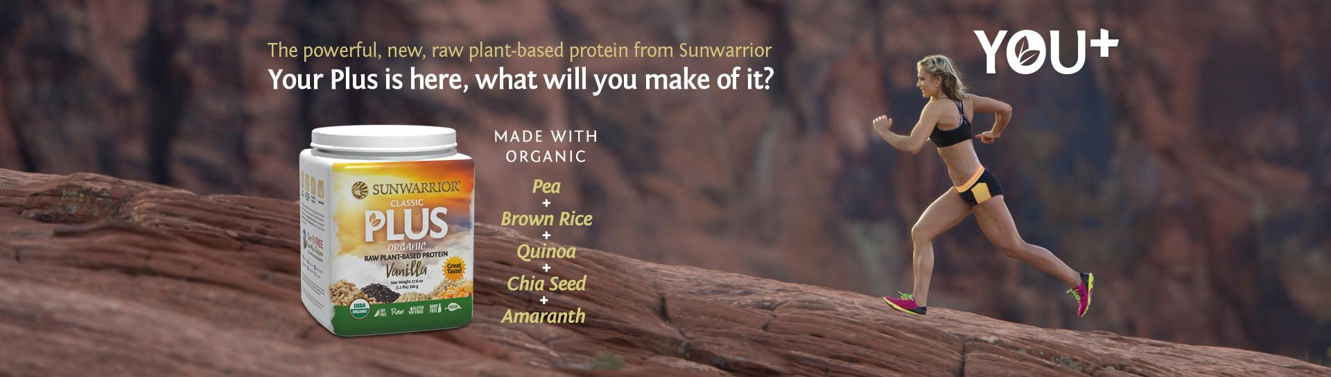 Sunwarrior Plus protein powder information page
