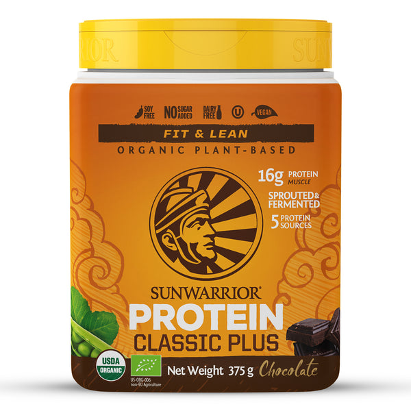 Sunwarrior Classic PLUS Organic Chocolate 375g