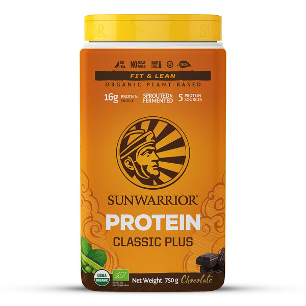 Sunwarrior Classic PLUS Organic Chocolate 750g