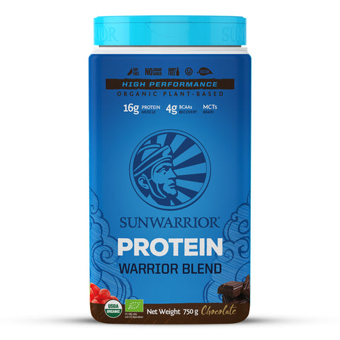 Sunwarrior Organic Warrior Blend Protein - Chocolate 750g