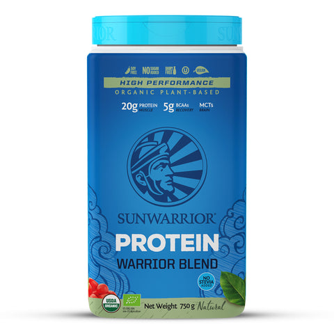 Sunwarrior Organic Warrior Blend Protein - Natural 750g 33% off -bbd 29/03/2021