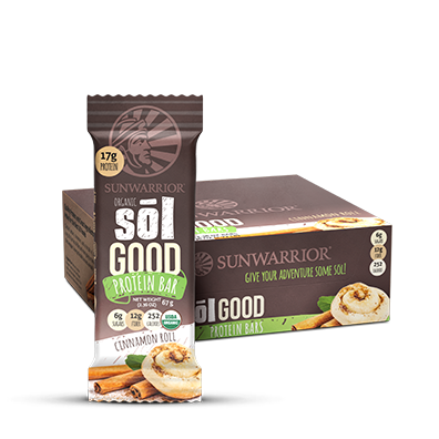Sol Good Organic Cinnamon Roll Protein Bars 12pk