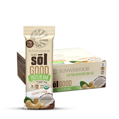 Sol Good Organic Coconut Cashew Protein Bars 12pk 50% off -bbd 26/11/2019