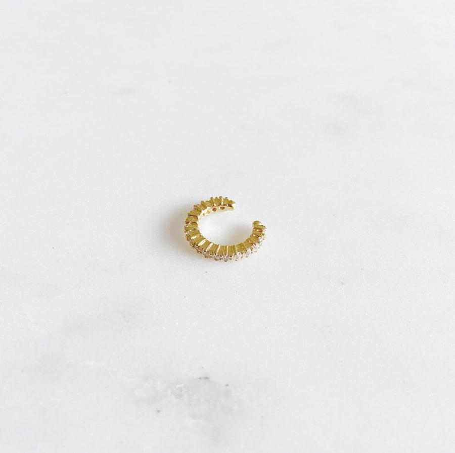 Chunky Zirconia Golden - Ear Cuff