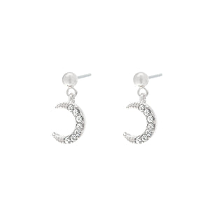 YEHWANG-GALAXY-SILVER-GLITTER-MOON-EARRINGS-PF1