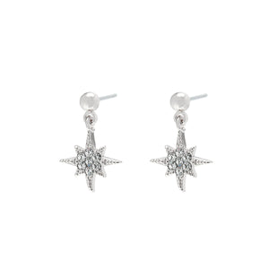 YEHWANG-GALAXY-SILVER-GLITTER-NORTH-STAR-EARRINGS-PF1