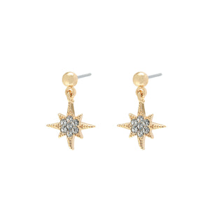 YEHWANG-GALAXY-GOLDEN-GLITTER-NORTH-STAR-EARRINGS-PF1