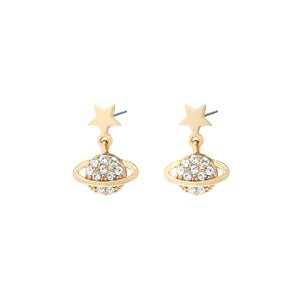 YEHWANG-GALAXY-GOLDEN-GLITTER-PLANET-EARRINGS-PF1