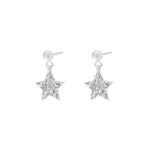 YEHWANG-GALAXY-SILVER-GLITTER-STAR-EARRINGS-PF1