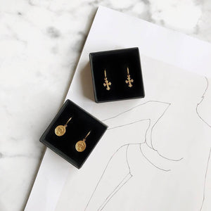 Cross Coin Gold - Earrings